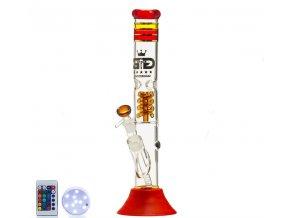 Skleněný bong Grace Glass CRSYTAL Series Red King 24K LED