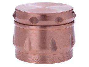 Kovová čtyřdílná drtička Drum Rose Gold