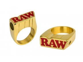 Zlatý prsten Raw Smokers Gold Ring Size 11