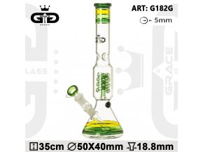 Skleněný bong Grace Glass HAMMER Series Funky Green Twist II