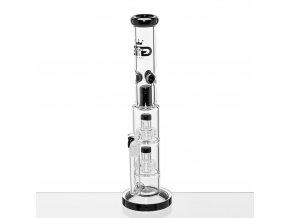 Skleněný bong Grace Glass Multi Perc Double DrumG1538BK 7c9e3bd5a884d07d5af53002eff4c605