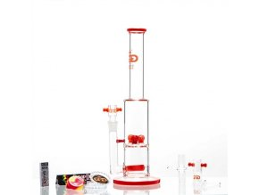 Skleněný bong Grace Glass Limited Series RED Shrooms Luxury Set