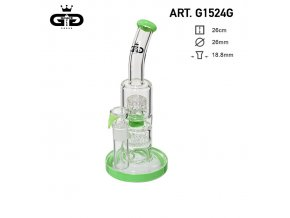 Skleněný bong Grace Glass Double Bubble Green