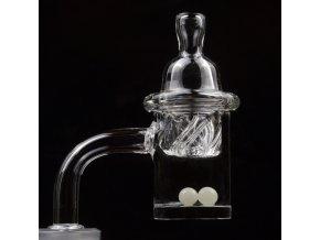 Skleněný Oil Banger Quartz Spinning Pearl Set 4 mm