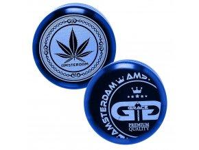 Kovová 5-ti dílná drtička Grace Glass American Blue