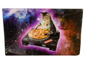 Skleněná balící podložka Syndicate DJ Cat Pizza Vinyl