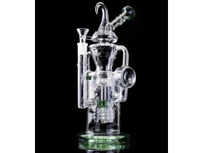 Skleněný bong Glass DoubleBarrel Vortex Spiral