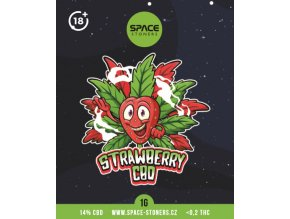 CBD Weed Space Stoners Strawberry Kush CBD 14 % 1 G