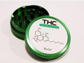 Kovová dvoudílná drtička Black Leaf THC