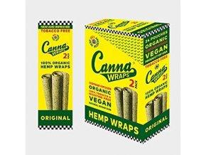 Konopné blunty Canna USA Organic Wraps Terpene Original Hemp
