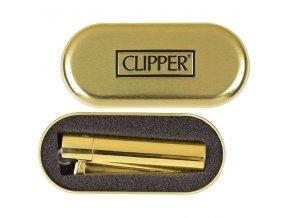 Kovový Zapalovač Clipper ® Zlatý