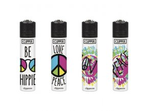 Zapalovač CLIPPER ® CP22RH Hippie Message