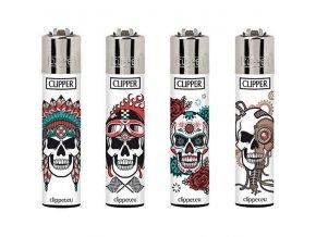 Zapalovač CLIPPER ® CP11RH Skulls 11