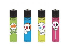 Zapalovač CLIPPER ® CP22RH Funny Skulls Mini