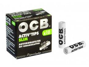 Uhlíkové filtry OCB Filters Slim 10Pack