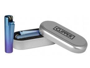 Kovový Zapalovač Clipper ® Blue Gradient