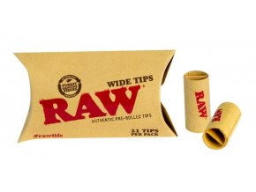 RAW Wide Tips Perforované Prerolled