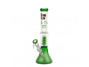 Skleněný bong THUG Life Spiral Green
