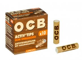 Uhlíkové filtry OCB Filters Slim Virgin 10Pack