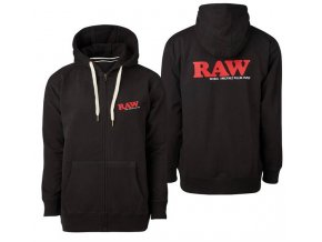 Mikina s kapucí Raw Papers Classic Logo Black Zip