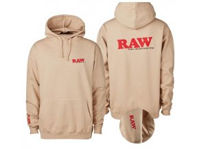 Mikina s kapucí Hoodie Raw Papers Classic Logo Beige