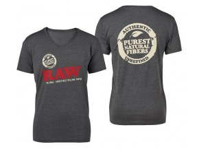 Triko Raw Rolling Papers Shirt Raw Grey Marl