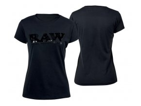 Dámské Triko Raw Rolling Papers Shirt Raw Classic Logo Black / Black