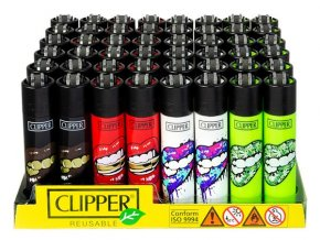 Zapalovač CLIPPER ® CP11RH Lips Black