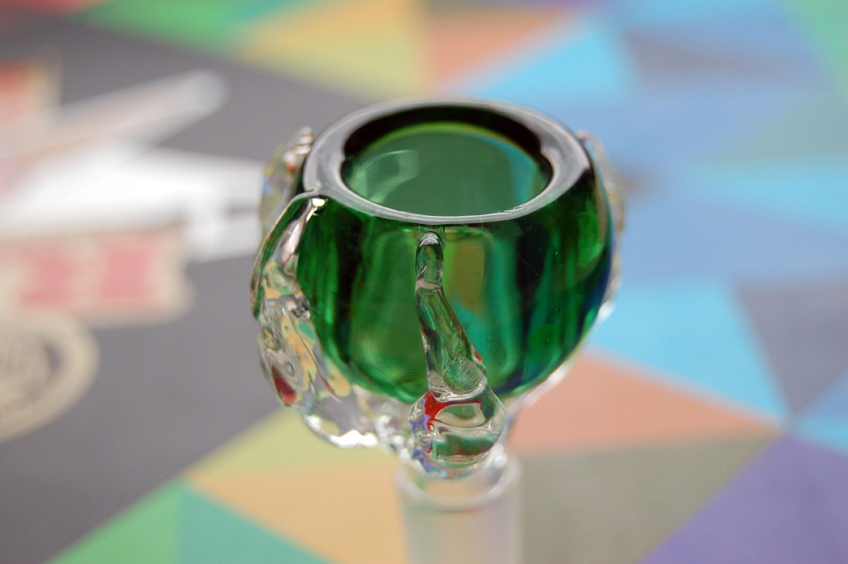Skleněný kotel Dragon Claw 18,8 mm Odstín: Zelená