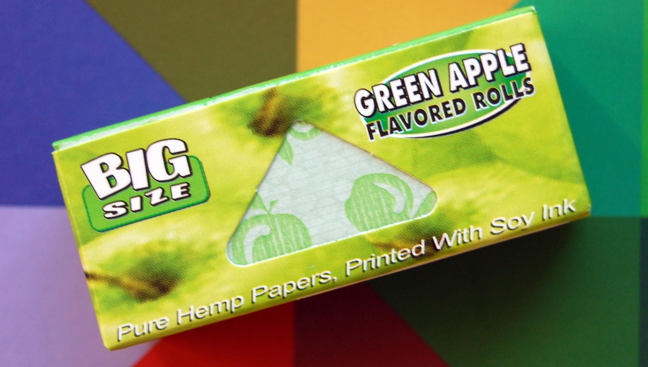 Juicy Jay´s Ochucené Rolls Příchuť: Zelené jablko