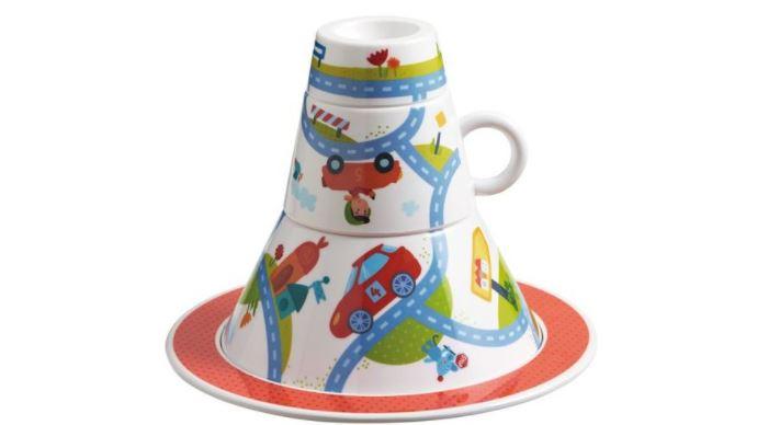 Dětské nádobí a lahve