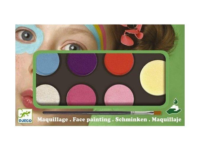 Holčičí barvy na obličej