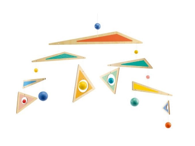 Dřevěná závěsná dekorace - Boomerang