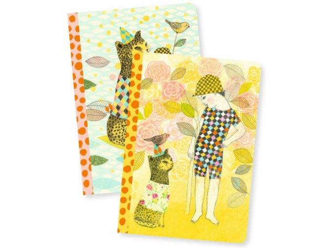 Duo sešitů (linkovaný a čistý) - gepard a holčička