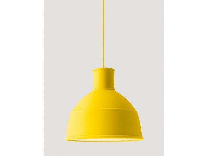 Závěsná stínící lampa žlutá - UNFOLD / MUUTO
