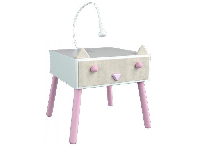 Dotties - noční stolek Koťátko