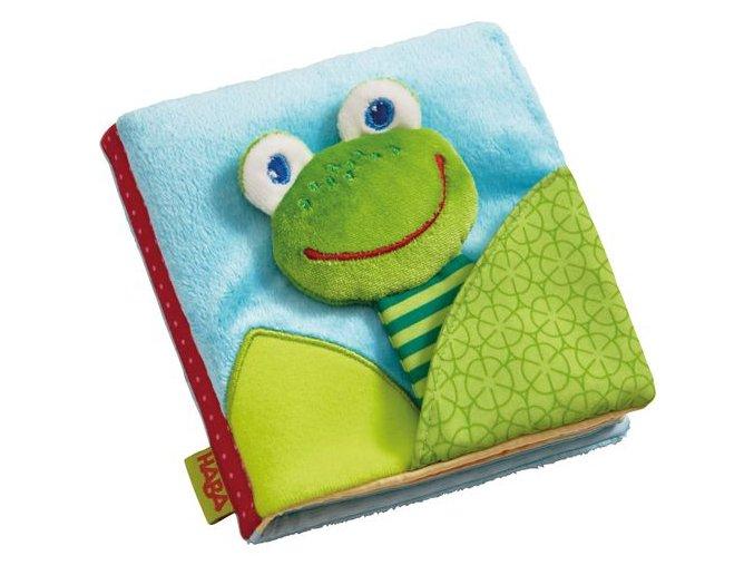 látková knížka žabka