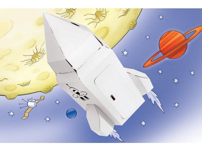 Raketa k vybarvení - malá