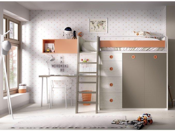 patrová postel H314 W