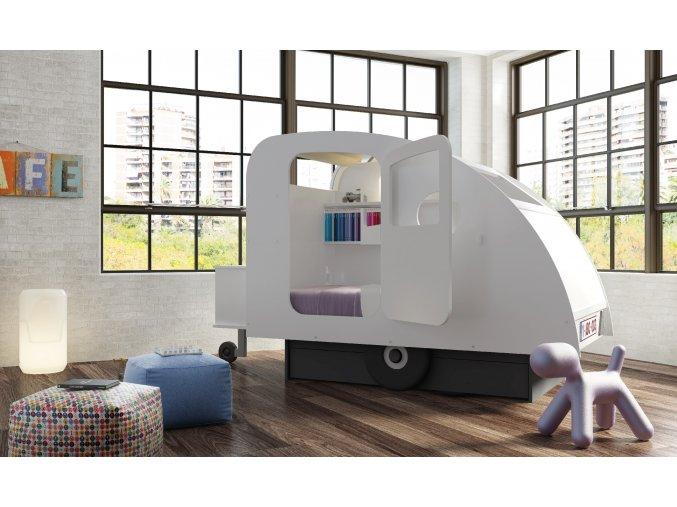 postel MBB caravan blanc