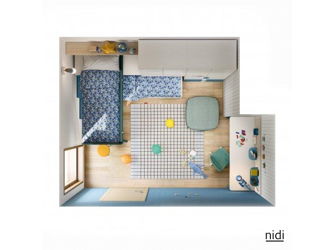 studentský pokoj Nidi