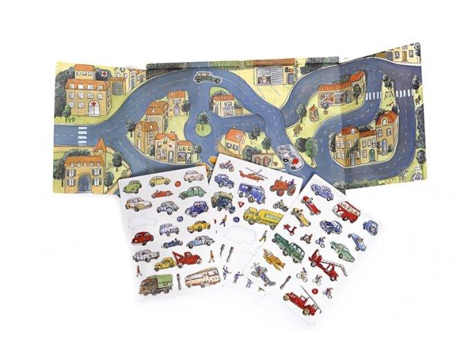 magnetická hra auta