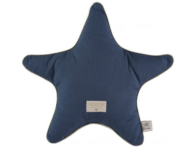 aristote star cushion coussin etoile cojin estrella night blue honeycomb nobodinoz 1