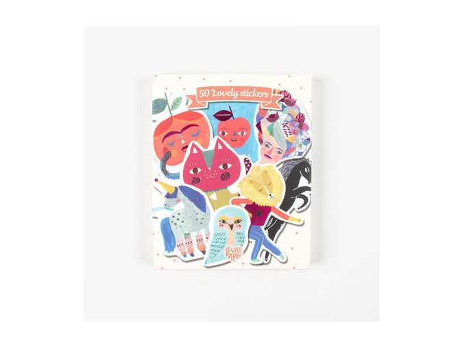 stationery stickers aiko 50 stickers