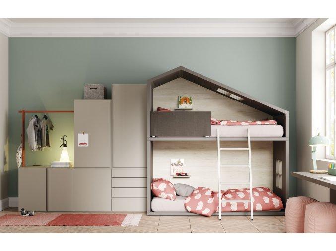 Dvoupatrová postel Cottage - Lagrama