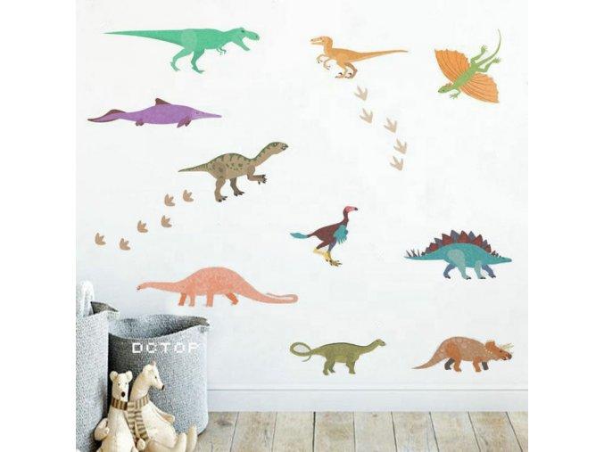 dinosaurus samolepky na zed 2