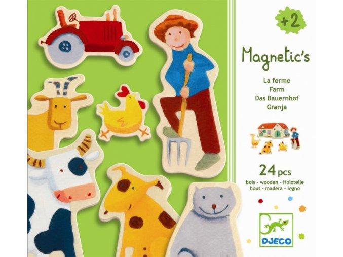 Dřevěné magnetky farma