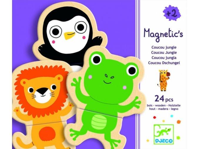 Dřevěné magnetky-Jungle, Djeco
