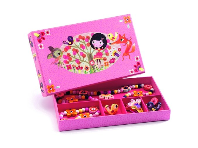 Květinové šperky, dřevěné, pro malé parádnice 4+, Djeco