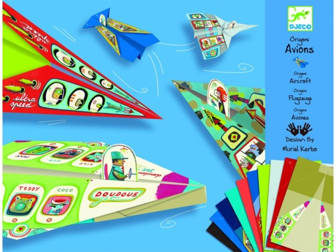 Origami skládačka Letadla